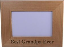 Best Grandpa Ever 4x6 Inch Wood Picture Frame - Great Gift for Father's Day, ...
