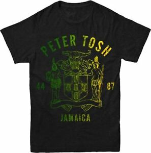 New: PETER TOSH - Peter Tosh 44-87 Jamaica (reggae) BLACK T-SHIRT