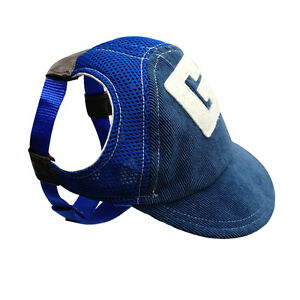 Breathable Mesh Dog Baseball Cap Pet Puppy Summer Sun Hats Outdoor Accessory S-L