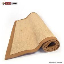Sisal Teppich Bordürenteppich Teppich Sisalteppich Naturfaser braun 80 x 150 cm