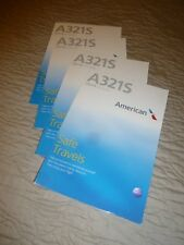 American Airlines Safety Card A321S  Lot of 4.  J09