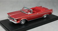 Neo Models Imperial Crown Convertible in Dark Red Metallic 1963 44845 1/43 NEW