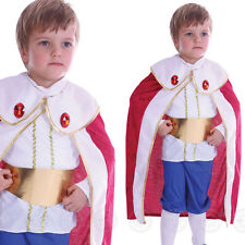 BOYS KING TODDLER  FANCY DRESS COSTUME AGE 2 3 4 KIDS MEDIEVAL TUDOR CHILDS