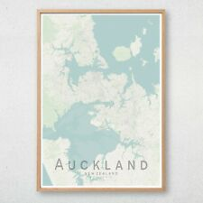 AUCKLAND Map Print, New Zealand Wall Art Poster City Map Wall Decor A3 A2 A1