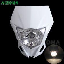 Supermoto Bike Headlight Head Light Fairing White For 12-16 WR450F Universal AU