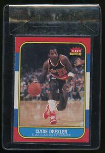1986 Fleer Basketball #26 Clyde Drexler Trail Blazers RC Rookie HOF BGS 8.5 RCR