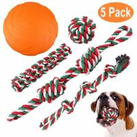 large small dogs chew treats toys tough rope frisbee for aggressive chewers kit