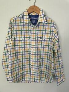 DUST N BOOTS gournama boys check long sleeve country button up shirt 7-10 NEW