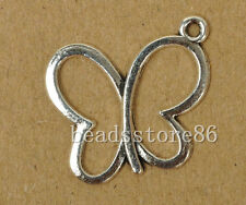 50 pcs Tibetan silver butterfly Lead, cadmium and nickel free  19mm