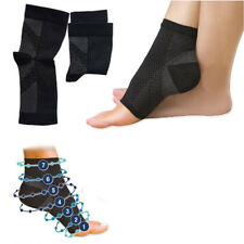 UK NEW Compression 2 SLEEVE Foot Angel Anti Fatigue Arch Heel Plantar Relief S/M