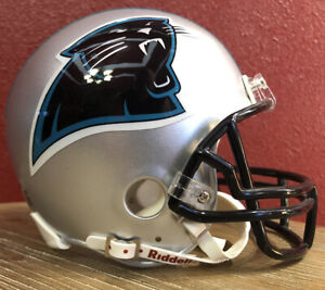 Rare NFL Throwback Carolina Panthers Riddell Mini Football Helmet & Facemask