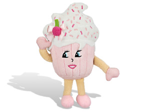"NEW-SUPER WHIFFER SNIFFERS-SUGAR CAKE-12"" SOFT PLUSH-STRAWBERRY CUPCAKE SCENTED!"