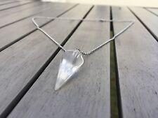 Crystal Pendulum Healing Chakra Dowsing Reiki Pendant Chain Necklace Quartz