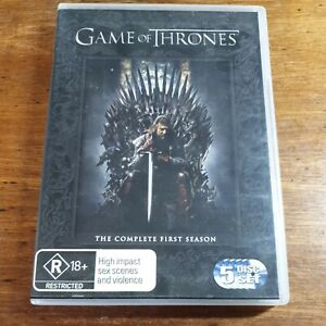 Game of Thrones Complete First Season DVD R4 Like New! FREE POST