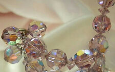 Very Beautiful Vintage 50's Deco Lavender Crystal Bracelet 332J5