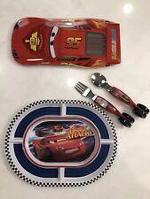 Disney Cars McQueen Plastic Plate And Utensils