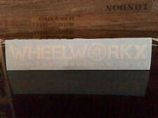 Wheelworkx Aufkleber Sticker weiß 25x130 mm