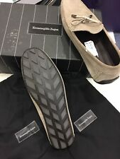 New Ermenegildo Zegna men casual Beige Leather driver size 7 (US size 8)$495