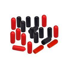 Endkappen Øi 2mm | 4mm | 6mm | 7mm | 8,5mm 10-50 Stk schw. -rot PVC Schutzkappen