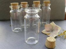 8x Glass Vial Bottles With Cork Crafts Mini Bottle Small Vase 22x50mm-Jewellery