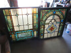 %7E+ANTIQUE+STAINED+GLASS+WINDOWS+TOP+AND+BOTTOM+SET+HH+%7E+ARCHITECTURAL+SALVAGE