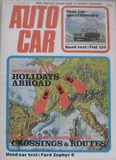 Autocar magazine 27/1/1972 featuring Fiat 124 road test, Mercedes 350 SLC