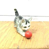 Vintage West Germany Cat Playing With Ball Figurine Goebel