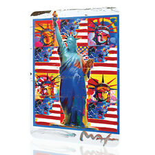 METAL TIN SIGN New York Peter Max Decor Patriotic USA Flag Art Wall Rusted