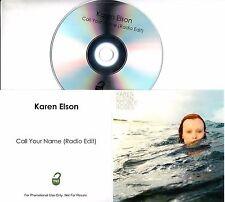 KAREN ELSON Call Your Name 2017 UK 1-track promo test CD