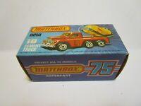 ORIGINAL 1976 MATCHBOX SUPERFAST NO.19 CEMENT TRUCK  EMPTY BOX *EXCELLENT*