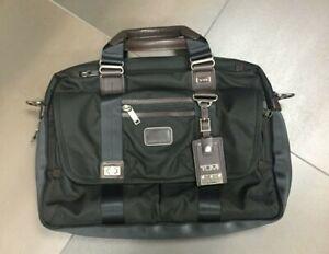 Tumi Alpha Bravo Pinckney Flap Briefcase Laptop Bag 22634HKH Black