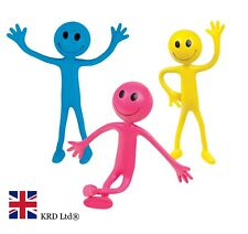 3 x Tobar BENDABLE SMILER Bendy Smiley Man Kids Sensory Fiddle Toy Gift New UK