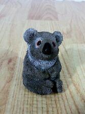 Don James Miniature Koala Bear Figurine Resin Sitting Gray