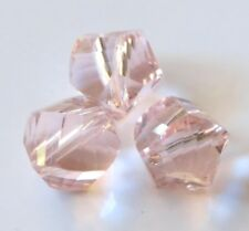 30pcs 9mm Helix Faceted Crystal Beads - Pale Pink