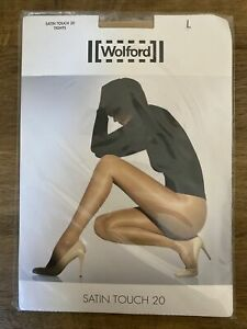 Wolford Satin Touch 20 Tights Large 16-18 Cosmetic Nude