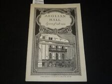 1918-1919 AEOLIAN HALL CONCERT PROGRAM - RACHMANINOFF - KREISLER - J 5379