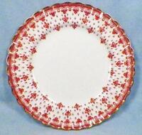 Spode Fleur de Lys Salad Plate Y7481 Red Bone China Gold Trim Scalloped Lis