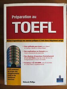 Préparation au TOEFL, méthode d'apprentissage, 5 CD audio + 1 CD-Rom