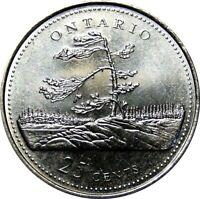 1992 Canada 125th Ontario 25 Cents Gem BU UNC Quarter!!