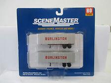 Scene Master H0 1/87 949-2358 32' Trailers 2 pack CB & Q  WS988