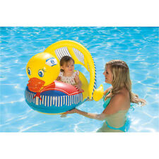"""Poolmaster Swimming Pool 36""""L x 32""""W Duck Baby Rider Float w/ Shade Canopy"""
