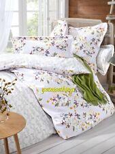 Yves Delorme Louise Amande Floral Reversible 2 Standard Shams 100% Cotton New