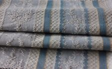 "Pretty Antique French Blue Cotton Jacquard Woven ""Marie Antoinette"" Fabric c1920"