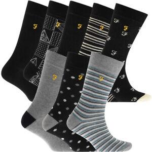 100% Genuine Mens Farah Dress Socks 3 Pack - 5 Pack or 8 Pack - Designer Socks