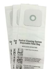 CENTRAL VACUUM BAGS for Nutone 391, 391-8, 3918, 44186 3-Pack