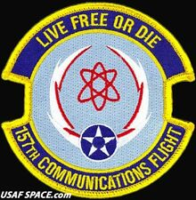 USAF 157th COMMUNICATIONS FLIGHT - Cyberspace OP's - Pease ANGB,- ORIGINAL PATCH