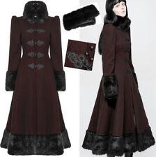 Mantel Gothic Lolita Russe viktorianisch Stickerei Pelz Korsett Winter PunkRave