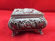 Cadeaux de Noël, Style rétro chinois étain sculpture Rose boîtes à bijoux