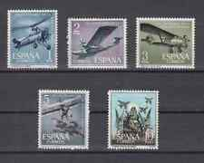 ESPAÑA (1961) NUEVOS SIN FIJASELLOS MNH SPAIN - EDIFIL 1401/05 AVIONES