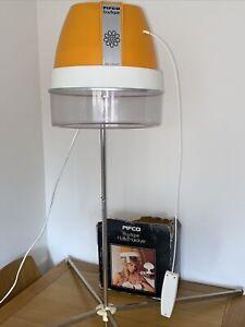 Vintage PIFCO BOUTIQUE HOOD HAIRDRYER ORANGE Retro Drier & Stand Working Tested